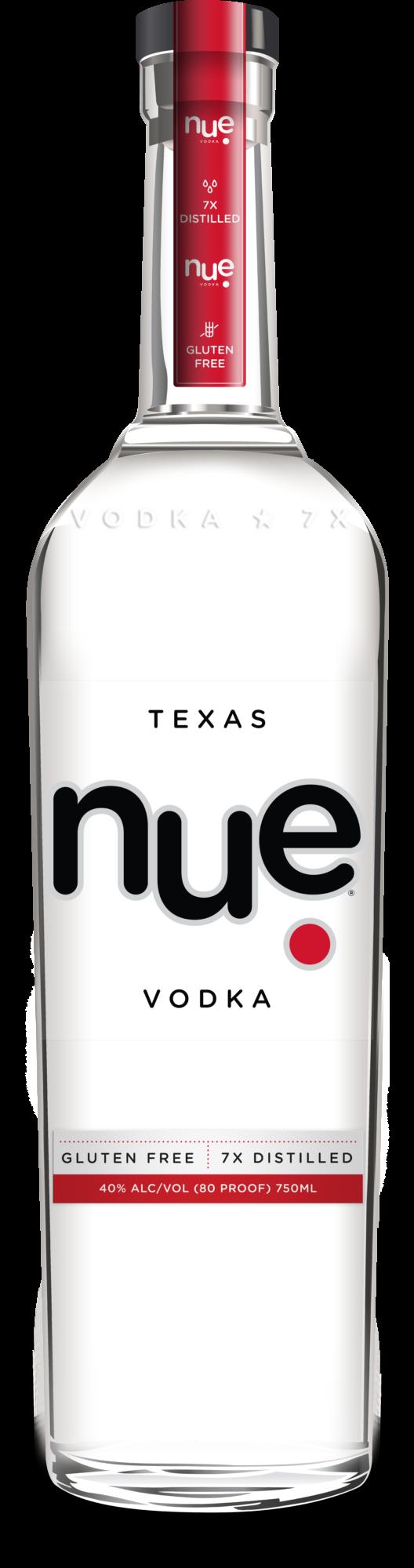 Bottle of nue vodka